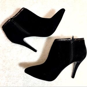 BCBGeneration Black Suede Booties Size 8